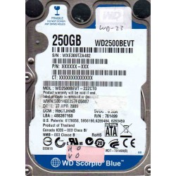 WD2500BEVT-22ZCT0,...