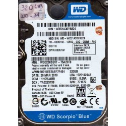 WD3200BEVT-75A23T0,...